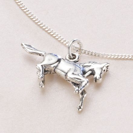 Treasured Memories Horse Necklace, Optional Engraving